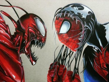 Spider-man and Carnage by TristanTemplar
