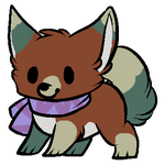 Chibi Scarf Dog - Adopted by Feralx1