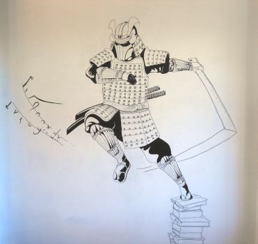 The Samurai Of Knowledge (wall painting) by Kanatou