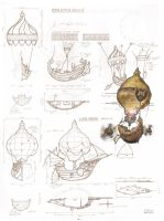 Flying Ship Sketches by hesir
