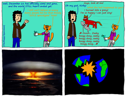 Dan Comics No.25 - The End of the World by TheHappySpaceman01