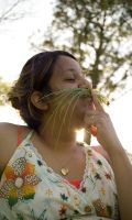 a wild onion mustache by kwant