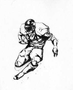 walter payton sketch by chajin