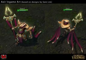 Azir Ingame Art by Yideth