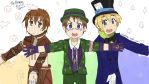 Scarecrow, The Riddler, and The Hatter! by ElzahChanx