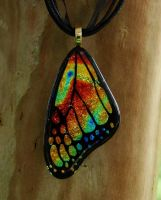 Fiery Mix Glass Wing by FusedElegance