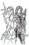 Tomb Raider and Witchblade by Forty-Fathoms