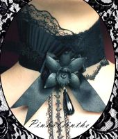Black Orchid Collar by Pinkabsinthe