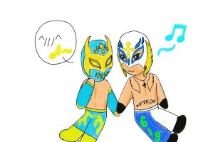 Rey Mysterio, sin cara by sweety9547