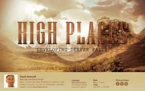 High Places Church Flyer Template by loswl