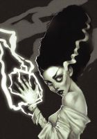 The Bride of Frankenstein by AlisZombie