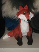 Paper Mache Fox by Lyndsey-Catastrphe