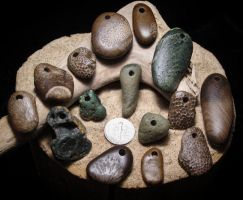 Fossils and Friends Pendants by RiverOtterWidget