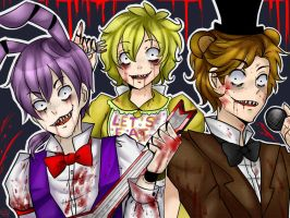 five nights at freddy's SPEEDPAINT by mangaka-sora-chan