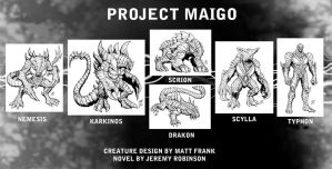 Project Maigo Creature Designs by KaijuSamurai
