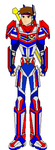 Suit update 3 (Mask and Visor retracted) by RyanGuardianRanger