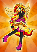 Sunset Shimmer Alternate Outfit by drinkyourvegetable