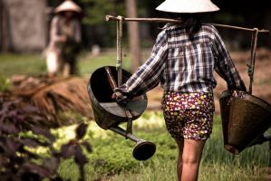 Water Lady in Vietnam IV by Solarstones