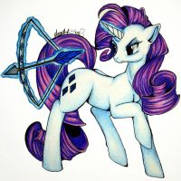 Commission: Pony Rarity by dead-kittens3