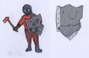 Pyro shield concept by BlackMage1234