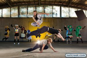 Parkour and Cosplay Jump by neilcreek