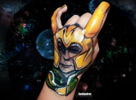 my hand got Loki'd! by Farbenfrei