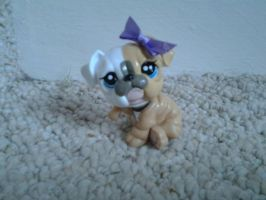 LPS Bulldog with Ribbon by ButchxButtercup1996