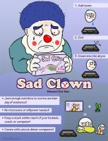 Sad Clown Dinners for One by SleepDepJoel