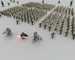Lego Battle Droid Army by Ligh7Bulb