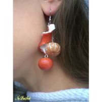 Earrings Tangerine by ProSvet