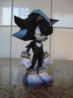 Mephiles The Dark (Normal form) Papercraft by augustelos