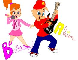 alvin and brittany by 1cartoonlovinfreak12