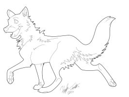 Wolf Lineart by anime-fan-addict