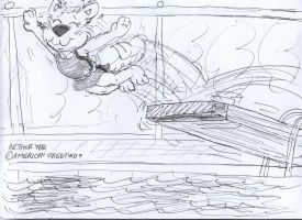 Flying Squirrel Dive by Artytoons