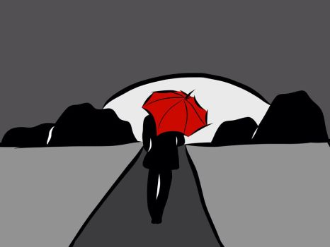 Red umbrella by JLcreation