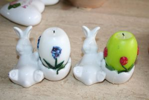 easter bunny candles by ingeline-art