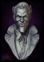 joKeR -Bust Sculpture- Clay render (2014 version) by LBG44