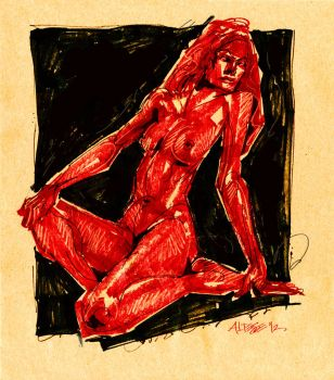 Red Nude by ChristineAltese