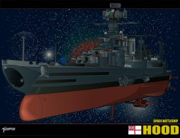Space Battleship Hood Wallpaper by stourangeau