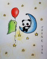 Dino and Panda Thank You 009 by MelodicInterval