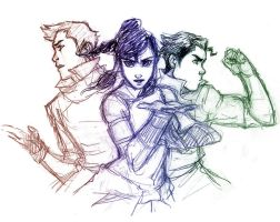 Korra Doodle-STUDY? by MexicanSushi