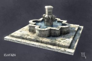 A medieval fountain by yansolo