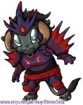 WoW Chibi: Tauren Hunter by DivineTofu