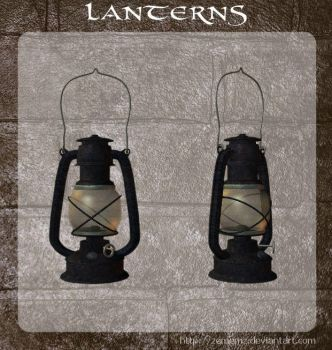 3D Lanterns by zememz