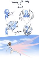 Drawing with SAI 25 wings by drantyno
