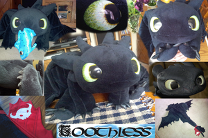 Toothless Plush #6: Lightning and Destiny by Super3dcow