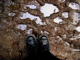 Boots, Puddles by Noreiarain