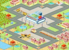 Isometric Map_small town by jongart
