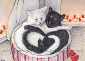 Love Cats ACEO by De-Vagrant