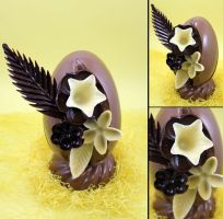 Chocolate Flowery Egg by Rea-the-squirrel